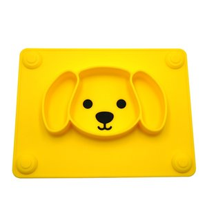 Non Slip Toddlers Foldable Tableware Reusable Suction Baby Placemat Portable Child Feeding Puppy Shape Cute Leakproof Easy Clean