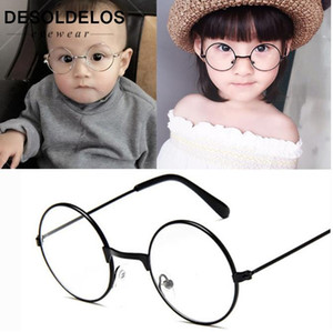Round Spectacles Glasses Frames Eyewear Kids With Clear Lens Myopia Optical Transparent Glasses For Children Boys Girls