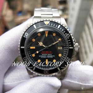BP lujo retro fábrica relojes clásicos 40MM 16610 Vieja serie de navidad del estilo de los hombres reloj automático de la correa de acero inoxidable Negro Bisel de aluminio