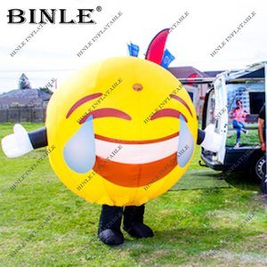 Yeni popüler dev şişme gülen yüz kostüm Emoji maskot karikatür komik parti dekorasyon için ağlamak yüz balonu gülme
