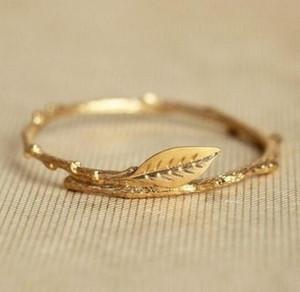 Circlty anelli migliori amici bohémien boho gioielli albero foglie foglie di alloro foglia knuckle toe banda anello 18k oro