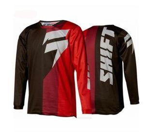 DESLOCAMENTO DH Downhill moto Jersey Mountain Bike longo da luva motocross jersey mtb Uniforme shirt do ciclismo roupa roupa da motocicleta