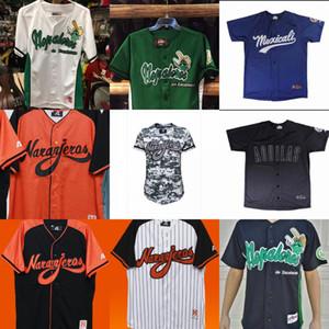 Naranjeros Nopaleros de Zacatecas Mexicali Águilas Todo cosido bordado Logos jerseys de béisbol de encargo cualquier nombre Cualquier número libre