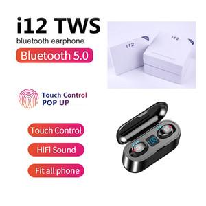 TWS i12 Ture Wireless Earbuds Bluetooth 5.0 Headphones Touch Control Auto Pairing Binaural Call Heaset Earphone PK i7s i9s i11