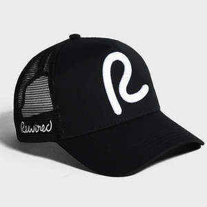 rewired baseball cap men women Rewired R Trucker Cap fashion adjustable cotton hats