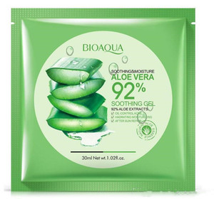 New arrival BIOAQUA Natural Aloe Vera Gel Face Mask Moisturizing Oil Control Wrapped Mask Shrink Pores Facial Mask Cosmetic Skin Care.