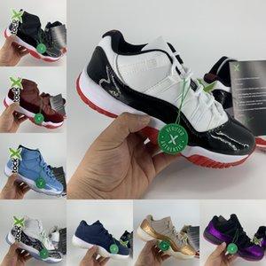 2019 Nike Air Jordan 11 Bred AJ11 11s Uomo Scarpe da pallacanestro Donna Pelle di serpente rosa Navy Light Bone Space Jam Sneakers Concord blu gamma US 5.5-13