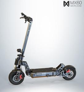 """2019 년 새로운 Mercane MX60 Kickscooter Foldable Smart Electric Scooter 2400W 60km / h 100km 범위 11 """"타이어 듀얼 브레이크 긴 스케이트 보드"""