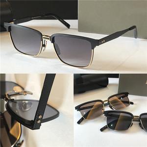 Nova moda de luxo óculos de sol 2076 projeto k ouro retro metade pequena moldura óculos de sol modernos avant-garde estilo homens UV 400 lente de óculos ao ar livre