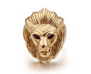Tête de Lion Punk Bague Hommes Zircon Pierre mens bijoux Pavé design chaud Couple Anneaux pour Homme Haute Qualité nouvelle Marque