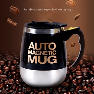Auto Sterring Coffee mug Stainless Steel Magnetic Mug Cover Milk Mixing Mugs Electric Lazy Smart Shaker Coffee Cup and Mugs CX200706