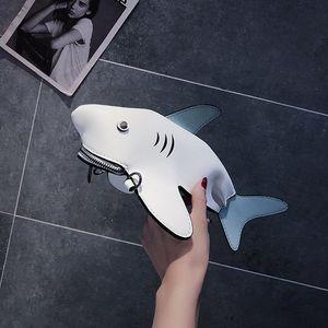 HBP 상어 모양 인격 선물 숄더 가방 유니콘 핸드백 숙녀 지갑 만화 크로스 바디 메신저 가방 4 색