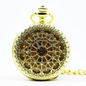 새로운 해골 남성 골드 기계 회중 시계 체인 목걸이 패션 캐주얼 포켓 FOB 시계 PJX1288