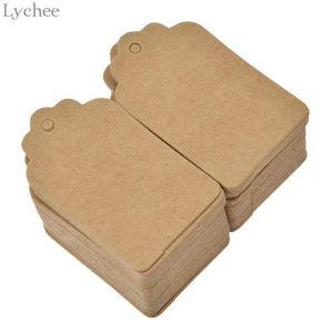 Lychee 100 PC-Platz Blank Tag Papierkarte Etikett Hang-Tag für Buch Hinweis Lesezeichen Dairy DIY Handmade Dekoration
