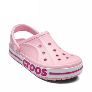 New 9 Colors Women Sandals Unisex Outdoor Couple Hole Shoes Light Cool Flip Flop Lovely Womens Shoes Platform Sandals Size35~44
