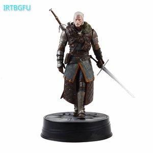 Escuro luxe cavalo O Witcher 3: Figuras caça selvagem Geralt Grandmaster Ursine Witcher PVC Figura brinquedo de acção Collectible estatueta T190925