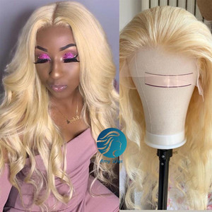 613 Blonde Lace Front Wig Brazilian hd Transparent 150 Density Body Wave Human Hair Wigs Pre Plucked With Baby Hair For Black Women