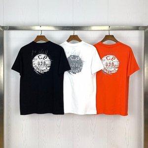 2020 nuevo diseño y fabricación de C.p.company 2020 verano nueva impresión botón 020 de manga corta camiseta