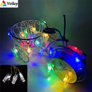 Voiley 2018 Merry Christmas Home Decoration 3 .1m 20 Leds Battery Clip Lamp Series Light String New Year Noel Natal Decoration ,5