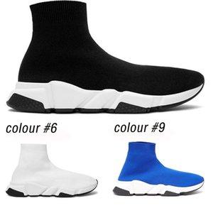 scarpe da ginnastica di marca a caldo, l'allenatore di velocità, nero, bianco, uomini, donne, calze, scarpe, mocassini, stivali, pantofole Estate scarpe traspiranti calzino