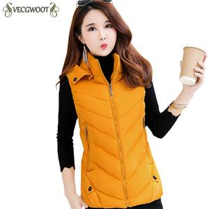 L-6XL Plus size Autunno Inverno Nuovo cotone sottile Ma3 jia3 donne moda caldo con cappuccio maglia corta in cotone donne di colore solido maglia S752
