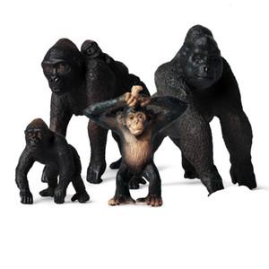 Simülasyon Küçük Gorilla Eylem Lifelike Eğitim Çocuk Çocuk Yabani Hayvan Modeli Oyuncak Hediye Sevimli Oyuncak Şekil