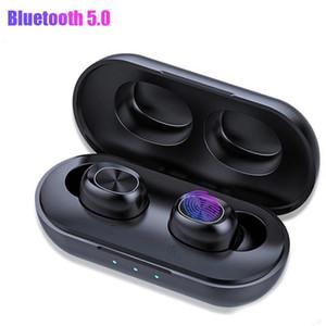 B5 TWS 5.0 Kopfhörer drahtlose Bluetooth-Kopfhörer Wasserdichte Stereo Headset Touch Control Earbuds Powerbank Ladetasche mit Mic