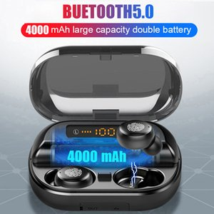V11 TWS Беспроводные наушники 4000mAh LED дисплей Bluetooth V5.0 наушники 9D стерео гарнитура Водонепроницаемые наушники с микрофоном