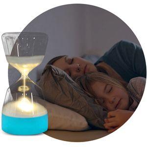 LED de reloj de arena noche de la lámpara del cambio del color de las luces del partido bebé suave dormir del niño Smart Charge USB dormitorio lámpara de cabecera del hogar del regalo DBC DH1076