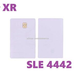 Stok, mevcut ! ISO7816 SEL 4442 Chip ile Beyaz PVC Kart IC Kart Koruma ve Güvenlik Mantıksal Erişim Kontrolü için Boş İletişim Akıllı Kart