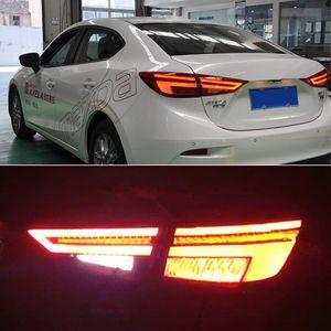 Cauda 1Set Car Lamp LED Nevoeiro luzes diurnas DRL Carros Acessórios para Mazda 3 Mazda3 Axela 2014-2018