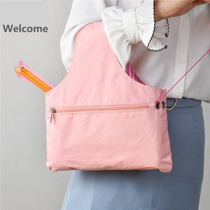 Knitting Tote Bag Yarn Storage Organizer for Small Projects Eco-friendly Waterproof Paper Storage Bag For Yarn Sewing Tool DIY