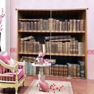 Гостиная Спальня Шторы для Bookshelf Цифровая печатная Blackout окна портьеры Настраиваемый любой размер 2 панели с крючками