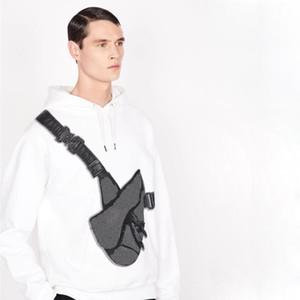 Maniche lunghe Miglior borsa da sella stampato con cappuccio Moda High Street casuale Felpa con cappuccio di colore solido uomo donna coppia Pullover HFHLWY168