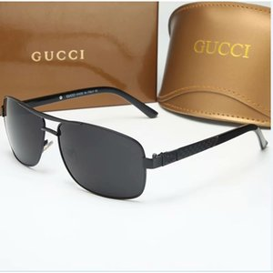 Excellent Quality Fashion Designer Sunglasses Semi Rimless Sun Glasses For Mens Womens Gold Frame Green G15 Glass Lenses With Cases and box