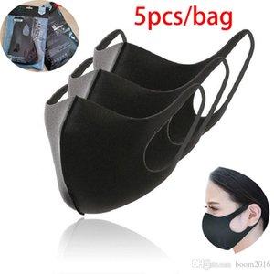 5pcs / bolsa de la boca de la máscara anti neblina de polvo reutilizable lavable hombres de las mujeres a prueba de polvo para niños Boca-mufla máscara máscaras boca cara 30x13cm boom2016