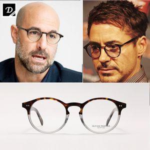 olive Völker Elins OV5241 Glas-Rahmen Frauen Männer Top-Qualität runde Weinlese-Brillen optische Oculos Computer-Brille Rezept