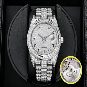 High-quality brand watches equipped with imported 3255 movement, stable and accurate 41MM full diamond 904 steel men's designer watches