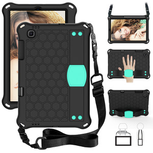 Hybrid Shockproof Armor Shoulder Belt Hand Strap Stand EVA Case For Samsung Galaxy Tab A T290 T380 T387 T377 S6 Lite P610 8.4 2020 T307