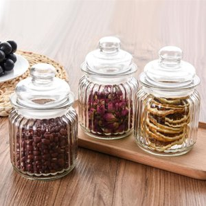 Food Sealed Storage Container Glass Empty Storage Jar Grain Canister Storage Container For Tea Coffee Bean Dried Fruit