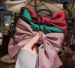 Cute Bownot Elastic Hair Rubber Band Bow Hair Clip Spring Clip Band Stripe Pony Tails Holder Hair Accessory Gift for Women Girl