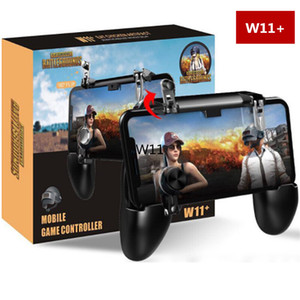 W11 + Telefone Móvel Handle Gaming Gamepad Controlador PUBG Joystick Metalen L1 R1 Disparador de Fogo Para O Telefone