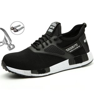 Herren-Sicherheits-Schuhe Sommer-Ineinander greifen Breathable Männer Stiefel Einbau-Stahlkopf Anti-Smashing Anti-Piercing Arbeitsschuhe XL 36-47