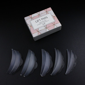 Funmix 5 Pair Silicone Eyelash Perm Pad Recycling Eye Lashes Rods Shield 3D Lash lifting Tools Eyes Curler Makeup Cosmetic
