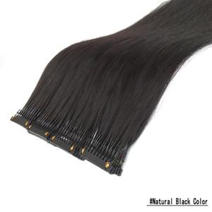 Женщины 6D Pre Bond Extens Hair Hair Clip для 6D Наращивания волос Машина Нет трассировки Связных волос Необработанные черные коричневые блондинки красное вино