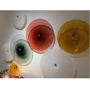 Wall 100% ручная работа выдувного стекла Настенных светильники Декоративная ручной выдувные Murano Art Glass украшение стены Тарелка 2020