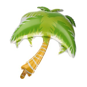 1pc Green Palm Golden Tree partido praia havaiana Balloon Decor casamento Bday