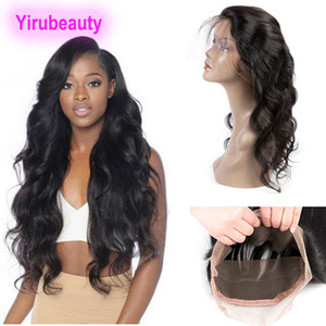 Malaysian Virgin Hair Body Wave Pre Plucked With Baby Hair 360 Lace Frontal 10-24inch Top Closures Fontal Hair Extensions