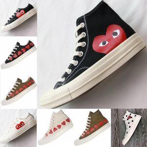 1970 Classique New Shoes CDG Big Canvas conjointement avec les yeux coeurs Brandconverse 1970 Designer Casual Course Skateboard SneakersgyeR #