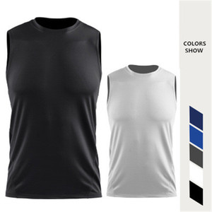 2020 Mesh Basketball Vests Men Compression Top Gym Fitness Running Shirt Male Sports Sleeveless T shirt Gym Jogger clothing wear Plus Size